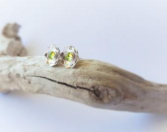 Peridot Earrings August Birthstone Peridot Jewelry Green Earrings Gemstone Earrings Birthstone Earrings Peridot Studs Green Peridot