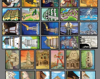 7 Wonders of the Ancien World - FrantixMedia: ArtFrantix Collection Sketchcard Collection