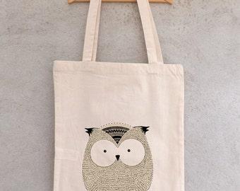 "Tote Bag ""OWL owls"" - shopping bag"