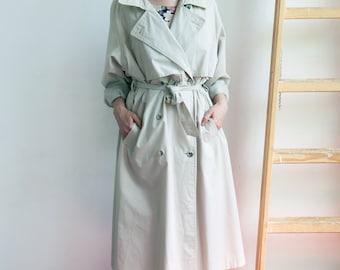 Vintage 90's Beige Trench Coat