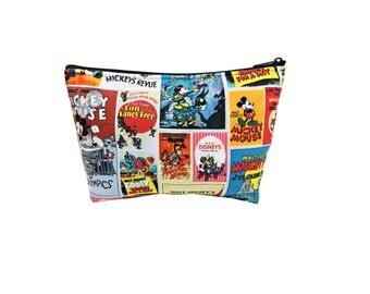 Classic Mickey Print Go Bag // Go-Bag // Cosmetic Organizer // Travel Organizer // Disney