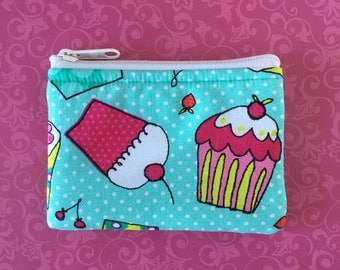 Cupcake Coin Bag // READY TO SHIP // Change Purse // Pouch