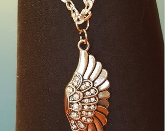 Wing with bling necklace - #35