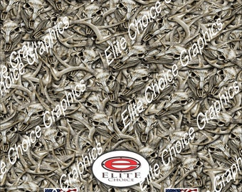 """Buck Skull Pile 15""""x52"""" or 24""""x52"""" Truck/Pattern Print Tree Real Camouflage Sticker Roll or Sheet"""