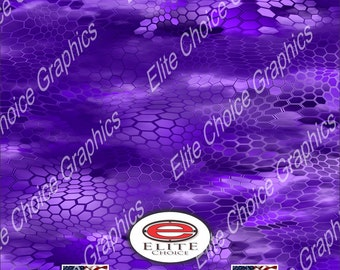 "Chameleon Hex 3 Purple 15""x52"" or 24""x52"" Truck/Pattern Print Tree Real Camouflage Sticker Roll or Sheet"