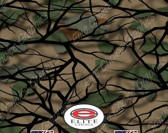 "Savage Green 15""x52"" or 24""x52"" Truck/Pattern Print Tree Real Camouflage Sticker Roll or Sheet"