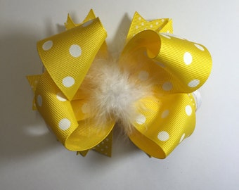 Sunshine Yellow Hair Bow