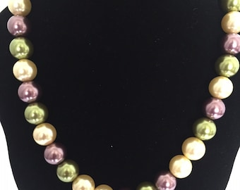 Multi-Colored Necklace with Matching Earrings