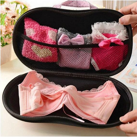 Bra panty case travel bags for lingerie intimates travel for Wedding dress travel case