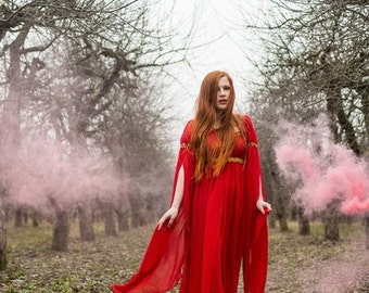 Fantasy dress, long sleeved dress, fantasy medieval dress,