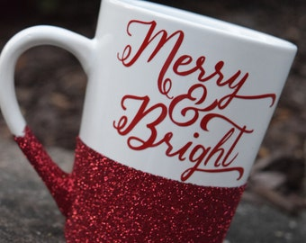 Christmas Mug, Christmas Coffee Mug, Christmas Gift, Christmas Gifts, Holiday Coffee Mug, Holiday Coffee Mugs, Glitter Coffee Mug