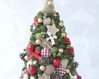 Christmas handmade tree Christmas gift, Topiary tree, New Year tree, Artifical christmas tree, Decorative tree