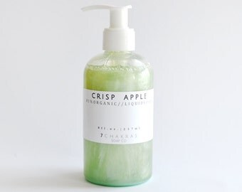 Organic Castile Soap, Liquid Soap, Apple Soap, Body Wash