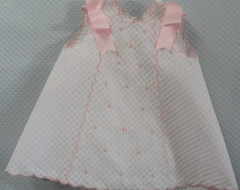 Pique Skirt. Hand embroidery