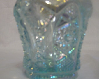 Imperial by Lenox - Toothpick holder - Hobstar - Opalescent blue