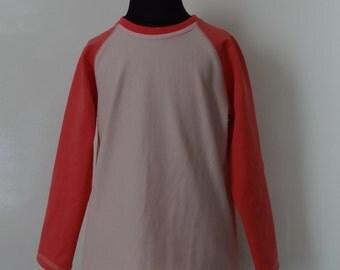 Pink baseball pullover