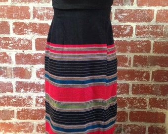 Nepalese inspired high waisted skirt