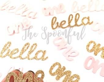 Personalized Pink and gold Glitter Confetti, Pink and Gold Confetti, Glitter Confetti, Personalized Glitter Confetti