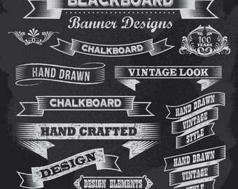 Instant Download Chalkboard Digital Flourish Border Frame Clip Art Scrapbooking Embellishment Frame Clipart Frame Decor Design Elements 0114