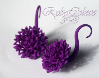 Gauges/ Plugs / The Chrysanthemums /3D jewelry/3D printed nylon