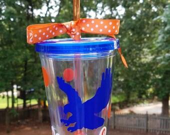Auburn Tigers Tumbler~ War Eagle Cup~ Auburn Tailgating Tumbler~ Auburn Football~Orange and Blue Tumbler