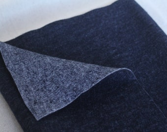 Wool felt Fabric Blue Half Yard