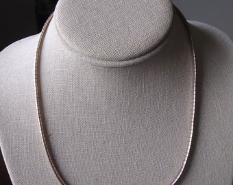 """17"""" Sterling 4mm  omega type necklace"""