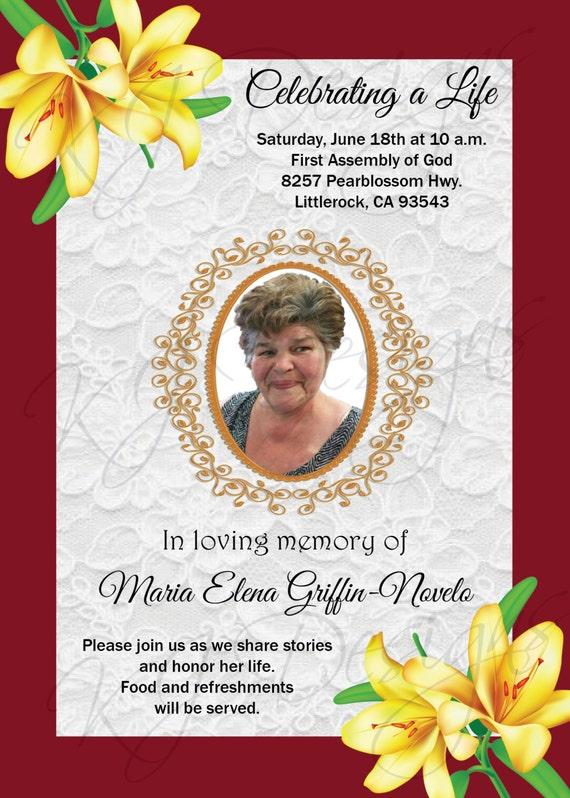 One Year Death Anniversary Invitations Sample