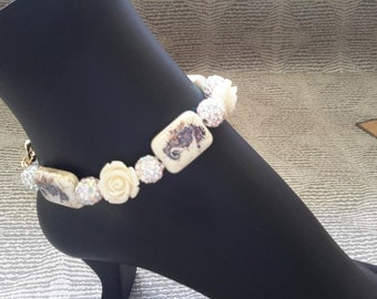 Seahorse Rose Anklet