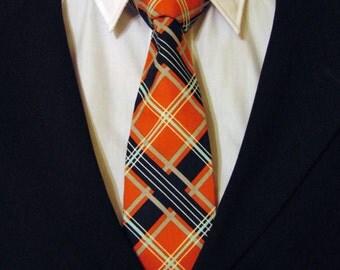 Plaid Necktie, plaid Tie, Orange Necktie, Orange Tie, Navy Necktie, Navy Tie, Aqua Necktie, Aqua Tie, White, Father, Dad, Gift, Birthday