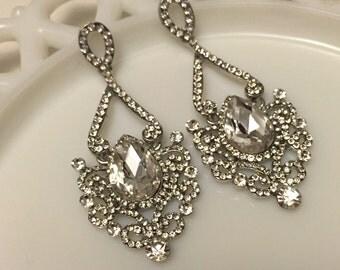 Wedding Earrings, Bridesmaid Earrings, Bridal Earrings, Bridesmaid Gift, Bridal Jewelry, Bridesmaid Jewelry, Swarovski Crystal Earrings
