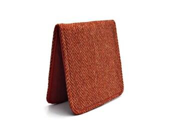 Herringbone Wallet,Vintage Cloth Wallet,Minimalist Wallet,Slim Mens Wallet,Retro ID Card Holder,Credit Card Holder,Non Leather Wallet