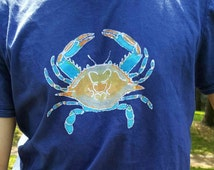 Maryland Blue Crab Batik T-Shirt