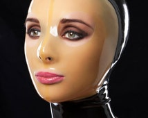 Latex mask with zipper and custom options availible