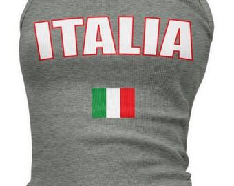 Italy Country Flag Ladies Juniors Tank Top, Italian Pride, Italia, Nationality, Ladies Juniors Italy Soccer Tank Tops AMD_ITA_08