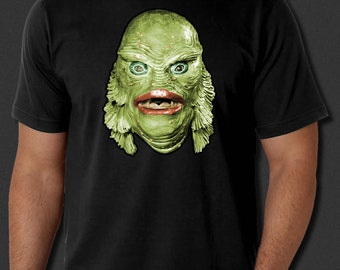 Creature From The Black Lagoon Classic Horror Movie Black T-shirt S-6xl