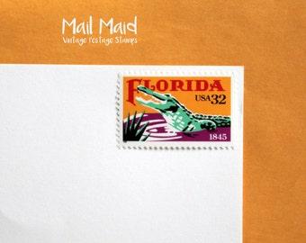 Florida Statehood || Set of 10 unused vintage postage stamps
