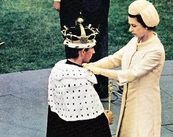 Vintage British Postcard, Investiture Prince Charles, Wales, Prince Charles, UK Postcard, Unposted, Caernarvon Castle, Caernarfon Castle