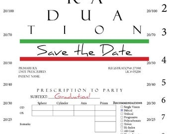 Eye Chart Graduation Save the Date
