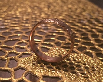 Antique English Rose Gold Band
