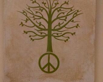 Peace Tree wall hanging