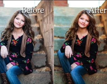 Warm Color Burst Photoshop Action - Instant Download