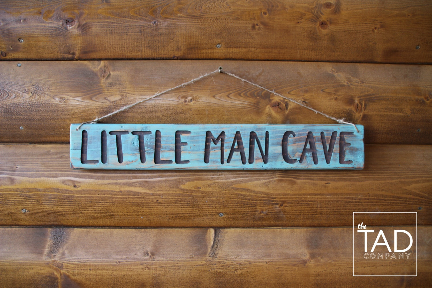 Small Man Cave Yuma : Rustic wood sign little man cave boy s room decor by