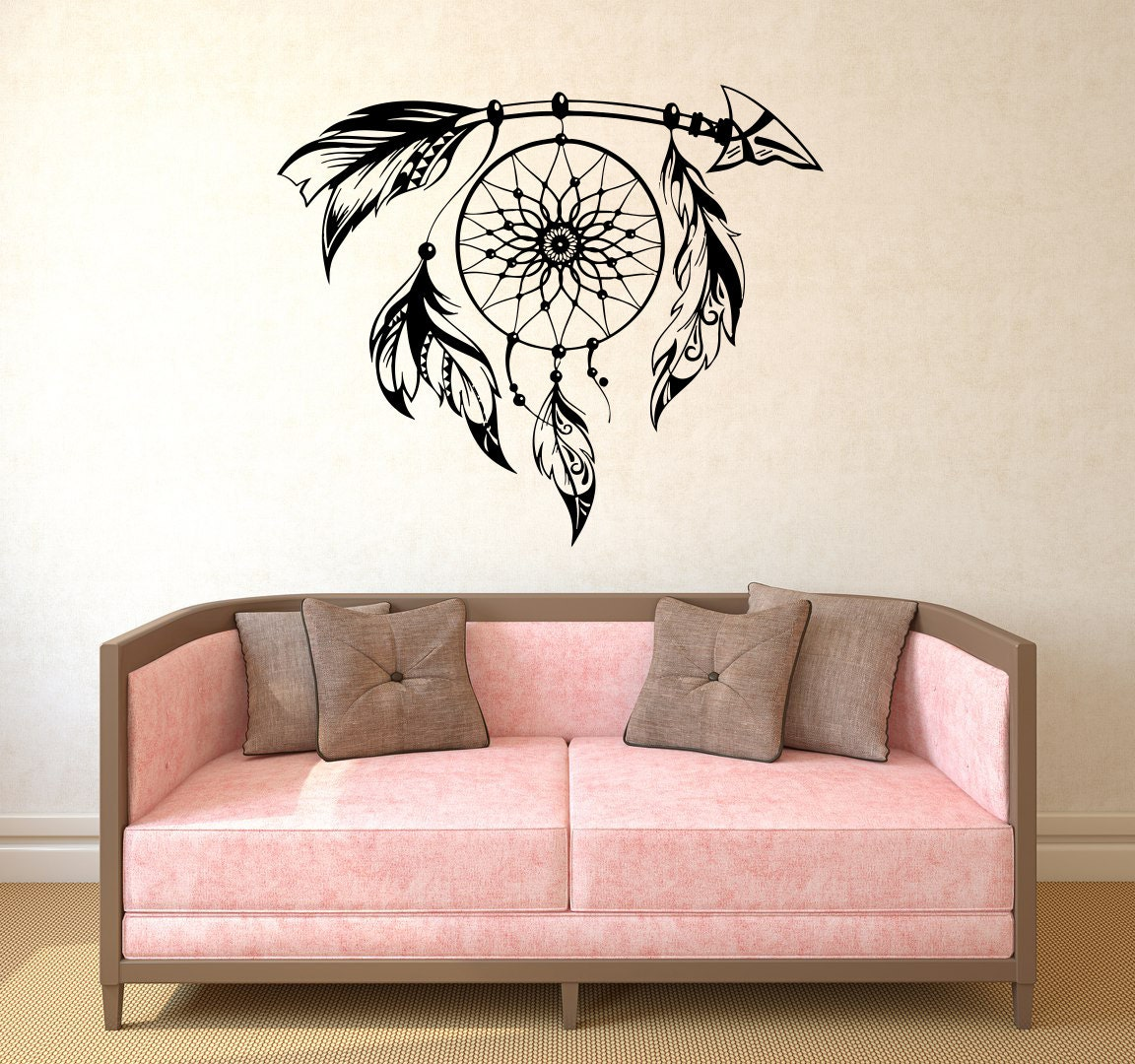 Arrow decal dream catcher wall decal vinyl sticker decals boho for Decor dreams
