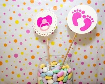 Baby Centerpiece, Baby Shower Centerpieces, Baby Girl Centerpieces, Shower Cake Topper, Paper Centerpiece, Diaper Cake Topper, Centerpieces