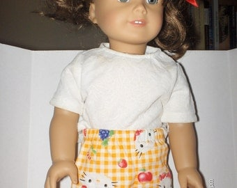 Handmade Doll Clothes- clothes will fit 18 inch dolls cotton short set