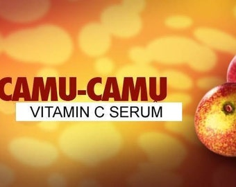 Raw Camu Camu Vitamin C serum *30x more POTENT* ORGANIC Anti aging serum XL size bulk size 6 oz. organic ingredients wrinkles tone firm