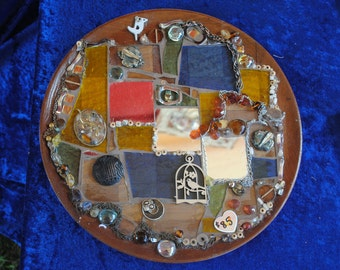 Mosaic Art in earthy tones