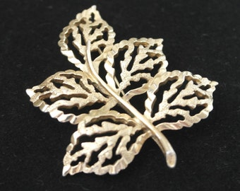Vintage Gold tone Branch and Leaf brooch by Sarah Coventry