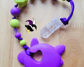 Home toy teether - turtle - purple and green